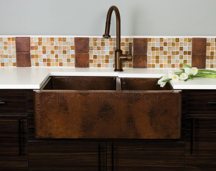 The Farmhouse Duet Is A Hand Hammered Copper Sink That Will Become The  Focal Point Of Your Kitchen Design. With Two Sink Wells For Easy Prep And  Clean Up, ...