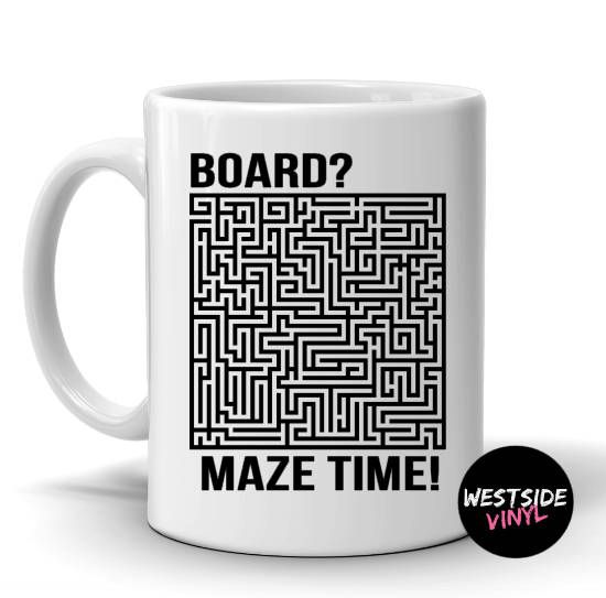 Maze Mug, Funny Gift, Office Gift, Novelty Mugs, Coffee, Coffee Mugs