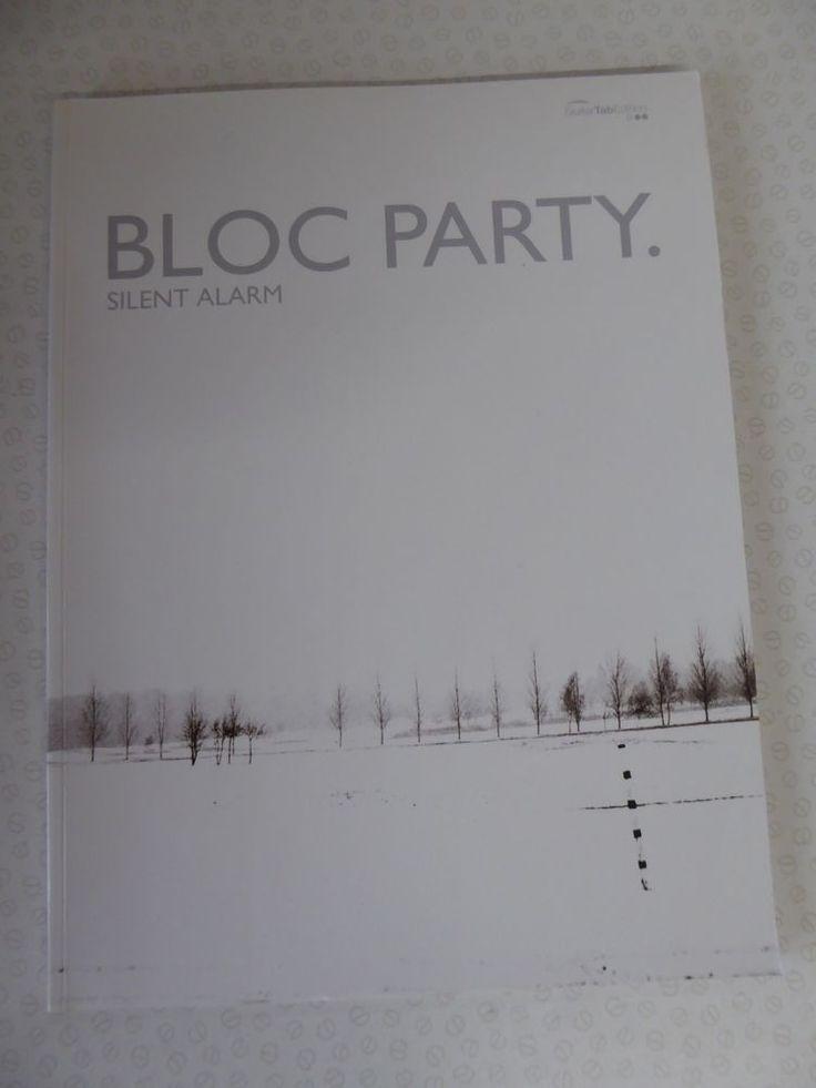 Bloc Party Silent Alarm Guitar Tab Edition Song Book Faber 2005 Paperback Alarmssongs Under Stairs Cupboard Song Book Under Stairs