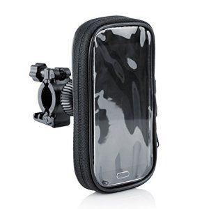 Arendo – Support pour vélo pour smartphones (jusqu'à max. 5 pouces (12,7 cm) / max. 7x 14 cm)   boîtier pour vélo / étui pour guidon…