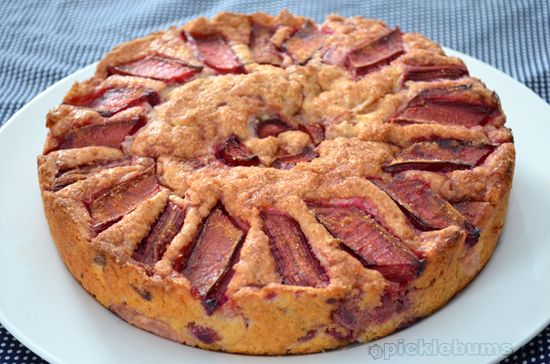 rhubarb tea cake... we had this for dessert tonight.   Have you got a favourite cake recipe?