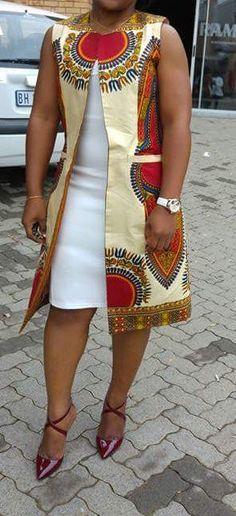 Manteau de femme africaine Dashiki Fait sur commande Impression de qualité African Dashiki Fabriqué avec un tissu africain dashiki qualité Merci pour vos achats