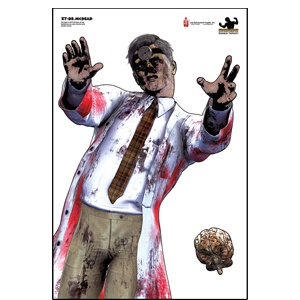 Zombie Law Enforcement Targets from letargets.com - Great assortment of target practice sheets you can use as posters - real cheap!