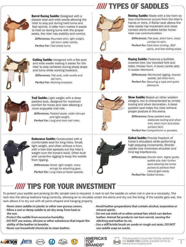 Saddle types                                                                                                                                                      More