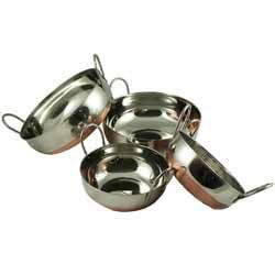 Balti Dish Set 3 - Copper Bottomed