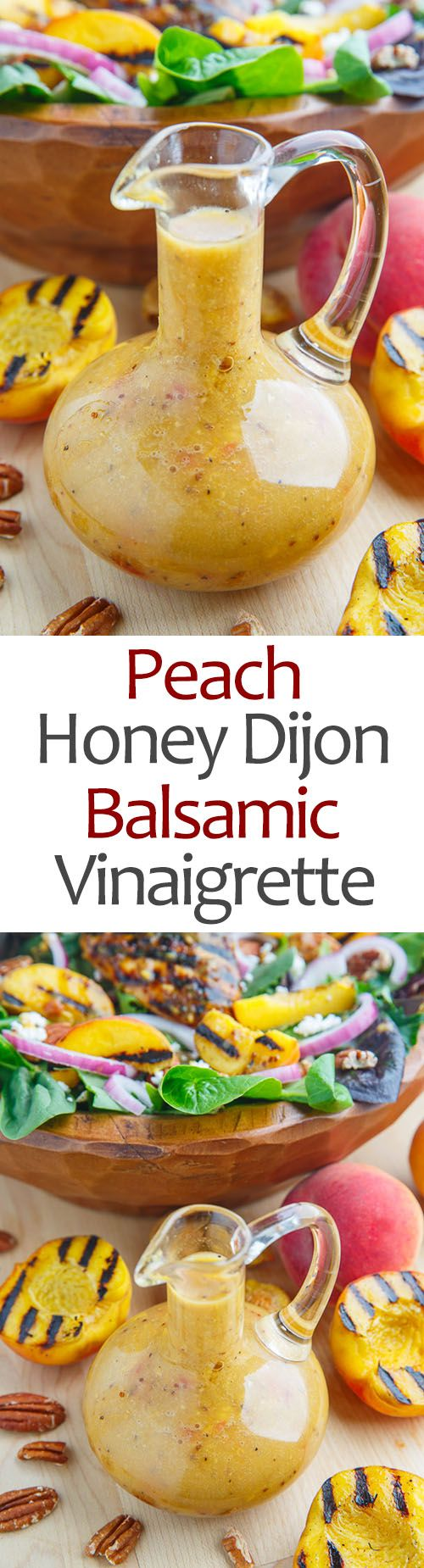 Peach Honey Dijon Balsamic Vinaigrette