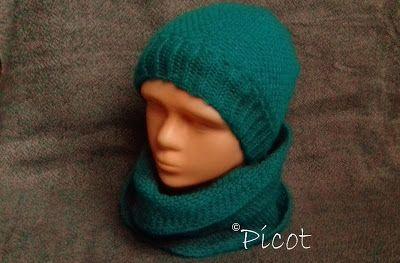 Picot - z miłości do rękodzieła: Czapka i komin - szydełkowy komplet