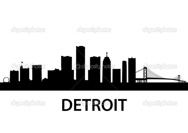 detroit skyline silhouette - Google Search