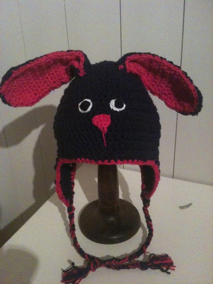 Bunny crochet hat.