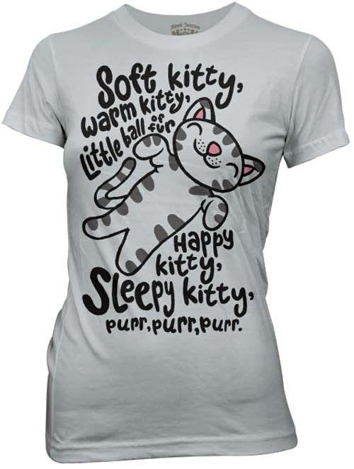 I want this!Warm Kitty, Soft Kitty,  T-Shirt, Bigbangtheory,  Tees Shirts, Big Bang Theory, Songs, Big Bangs Theory, T Shirts