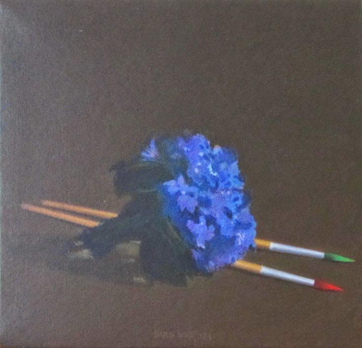 um ramo de violetas para Edouard Manet/ acrílico sobre cartão/ 20x20 cm/ 2014