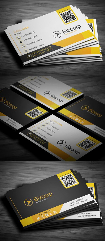 Corporate Business Card #businesscards #printready #businesscardtemplate #printedcards