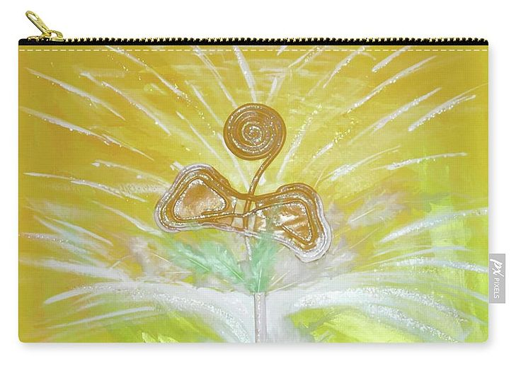 Abstract Carry-all Pouch featuring the painting Goood by Ron Labryzz