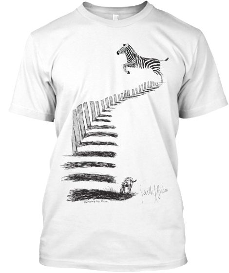 Go Wild with this Zebra Crossing t-shirt. Buy yours now.