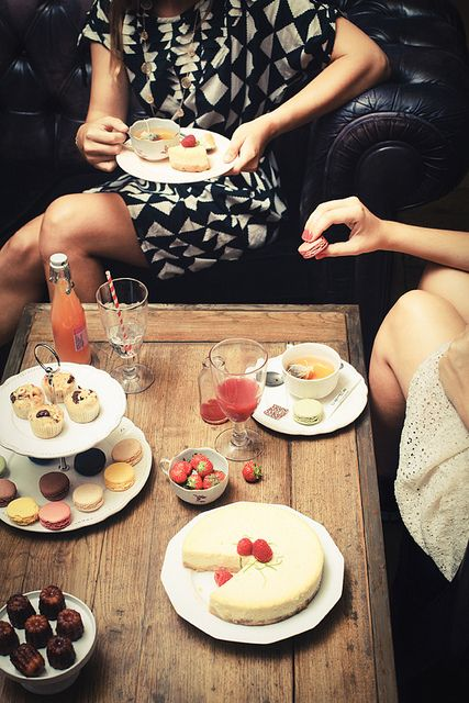 afternoon tea ~ by Virginie Photography, via Flickr