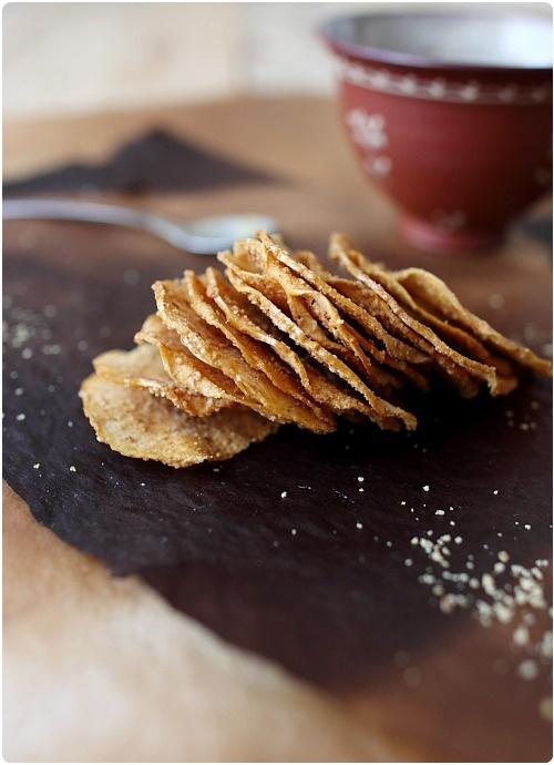 Chips de pommes au pralin