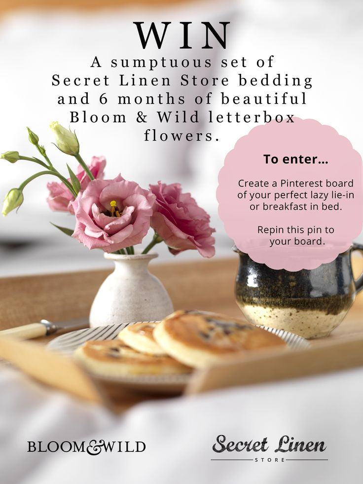 Love beds & blooms? Enter a special Secret Linen Store and Bloom & Wild competition to win both! For full T & C's click here... http://www.secretlinenstore.com/advice-and-inspiration/just-from-us/our-new-friends-bloom-wild/