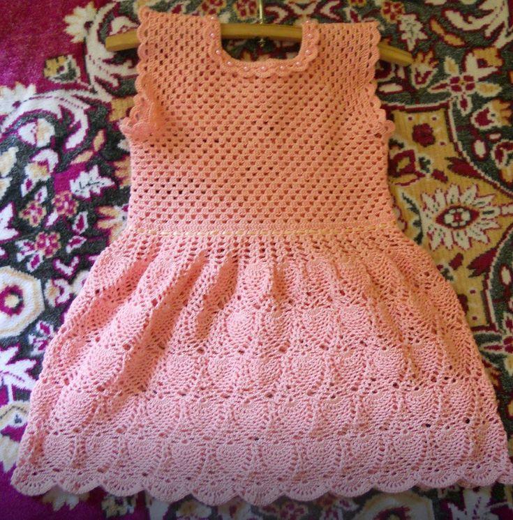 vestido a crochet para niña de 3 años