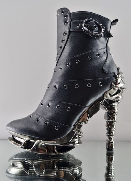 Dressed to Kill: Chrome and Raven Heels