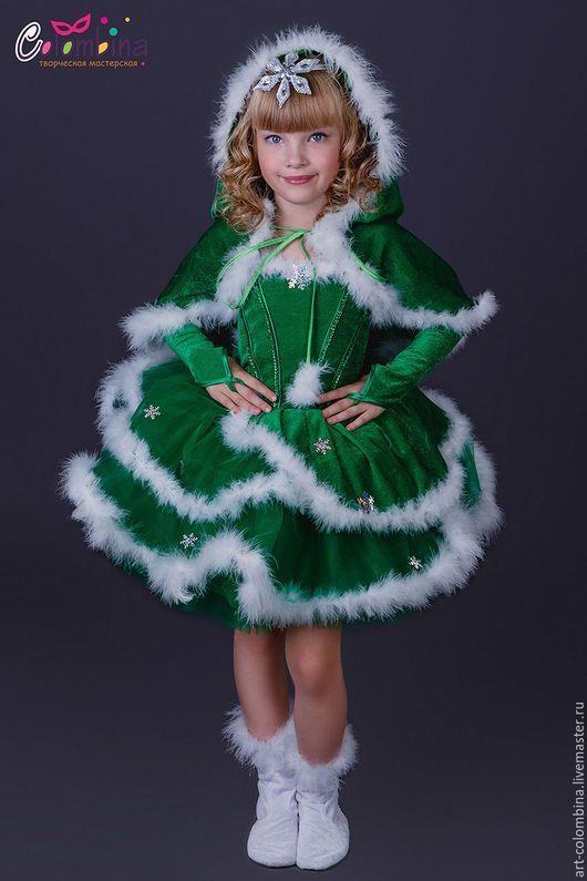 Детские карнавальные костюмы ручной работы. Ярмарка Мастеров - ручная работа. Купить Костюм ёлочки. Handmade. Зеленый, костюм елочки