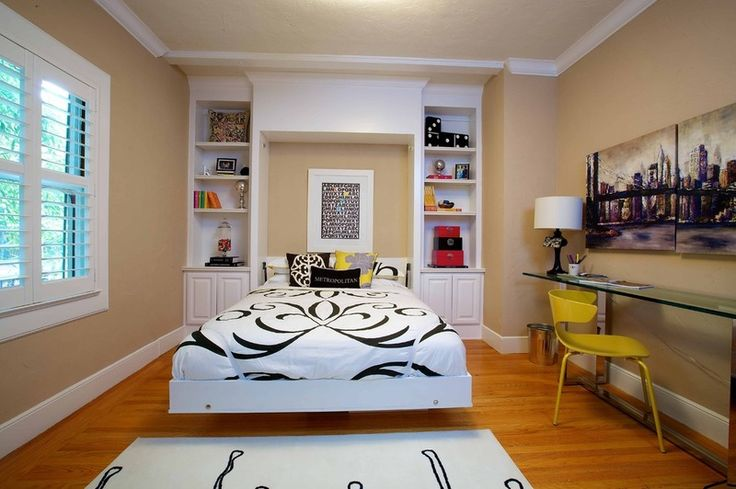 Murphy bed idea for spare room.