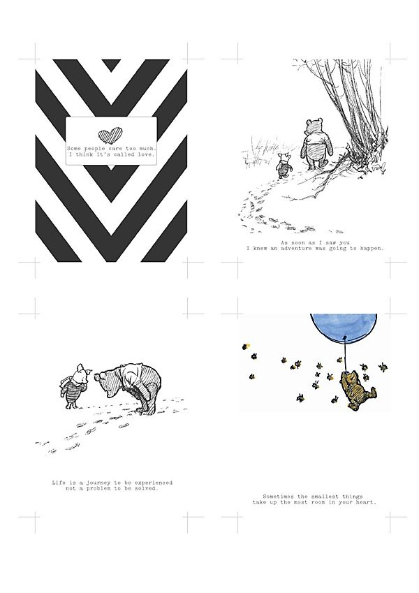 Free Winnie The Pooh project life cards | [ One Velvet Morning ]