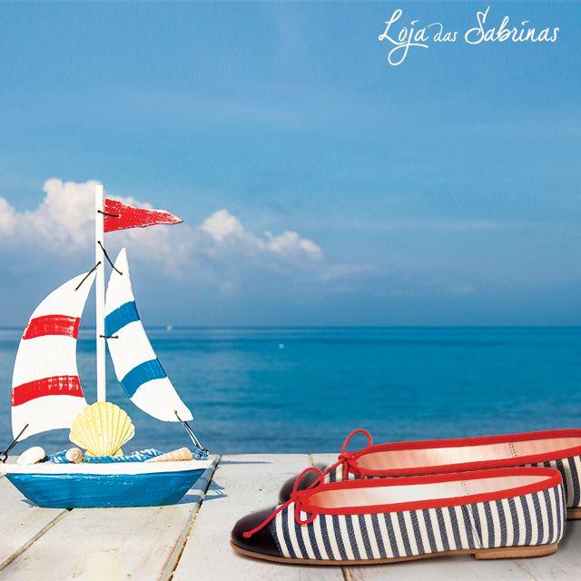 O estilo marinheiro das nossas Sabrinas Náutica, é um clássico perfeito para aproveitar os dias a beira mar.