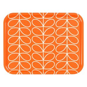 Orla Kiely | UK | House | Cooking & Dining | Persimmon Linear Stem Large Tray (0TRALST840) | Persimmon