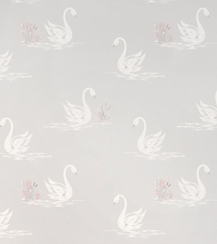 Swans Silver from the Laura Ashley wallpaper collection.