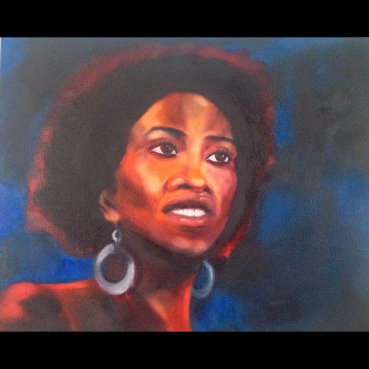 """Brown eyed girl"" 2014. 41x31cm. #artbybitta  #portrait #figurative #painting"