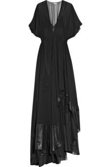 hippie rock chic for evening, love it!: Black Dresses, Birger Comitma, Comitma Silk Chiffon, Black Chiffon, Silkchiffon Gowns, Fashion Inspiration, Silk Chiffon Gowns, Birger Gowns, Malena Will Someday
