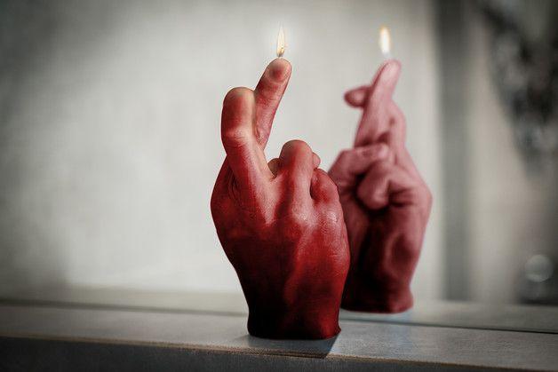 Świeca Crossfinger rubinowa czerwień - Candellana - Świece