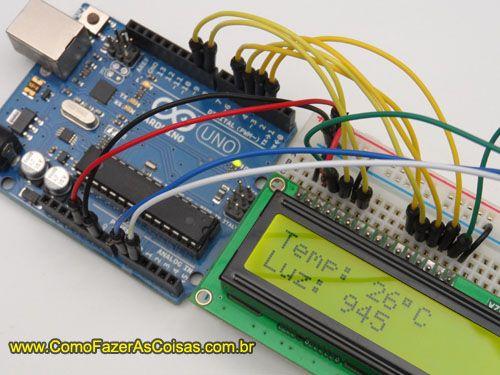 Arduino lcd sensor de temperatura e luz