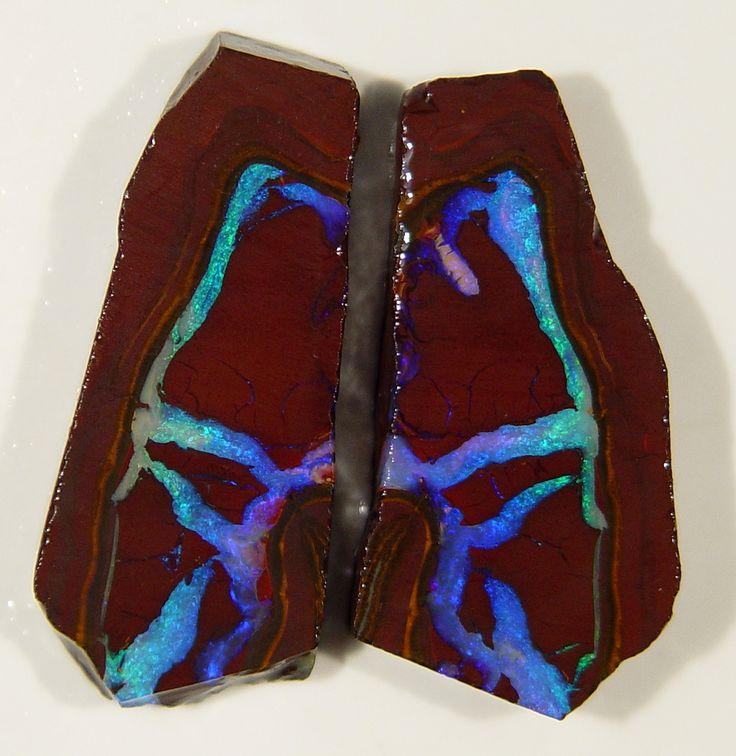 """""""rivers"""" of opal in specimen of boulder opal"""