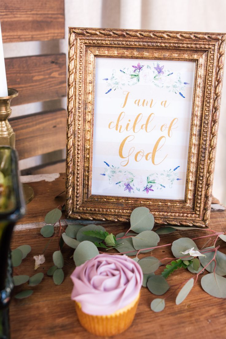 Purple and Gold Baby Dedication - Baptism