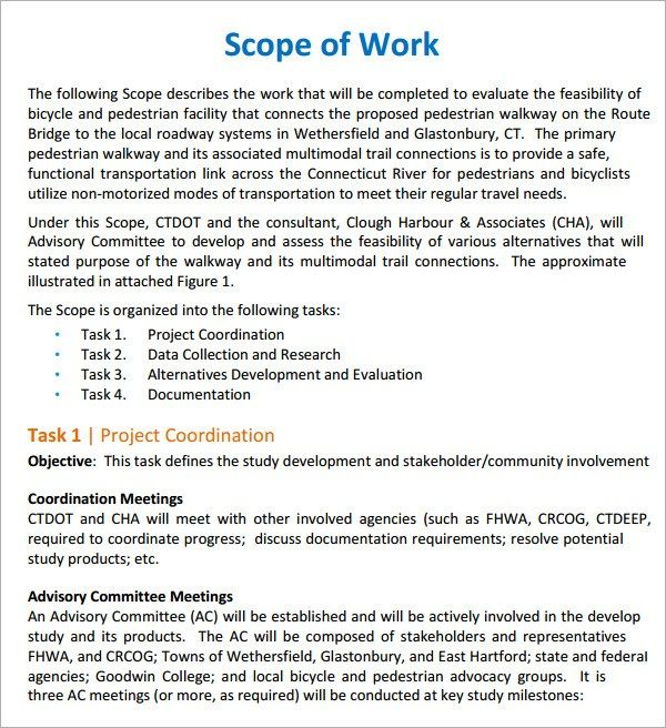 17 Free Scope Of Work Templates In Word Excel PDF | Sample