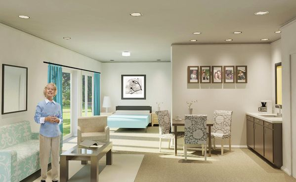 Senior Living [ Interior Design ] by Melissa Cooper, via Behance