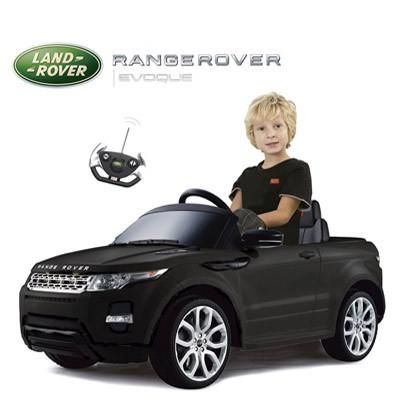 Range Rover Evoque Kids Electric Ride On Toy Car with Remote Control (Black)