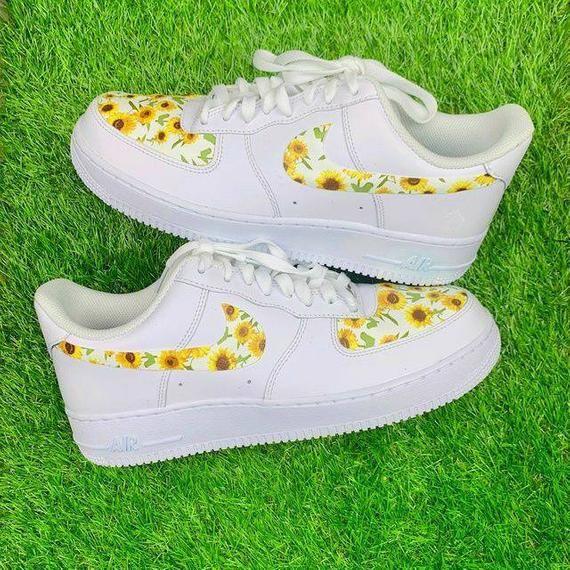 Custom Nike Sunflowers Air Force 1