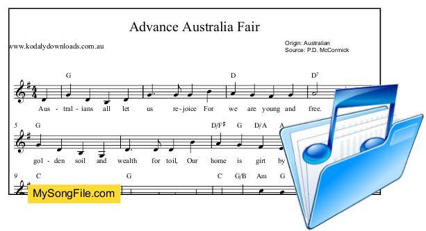 Advance+Australia+Fair+-+G+Major+