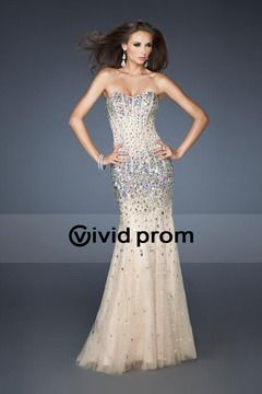 2014 Floor Length Tulle Sweetheart Prom Dress Mermaid/Trumpet With Sequins USD 283.49 VVPPAG45C2Q - VividProm.com