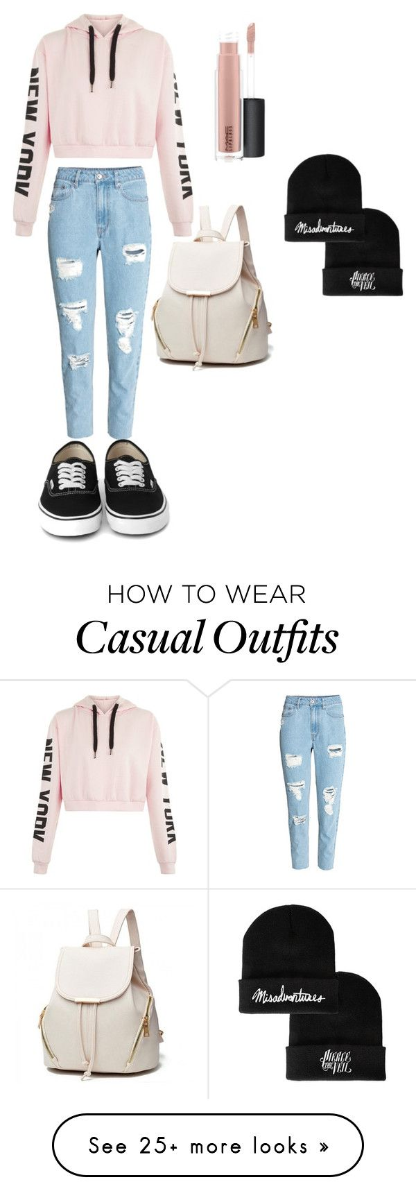 """Casual"" by fleurstevens on Polyvore featuring H&M and MAC Cosmetics"