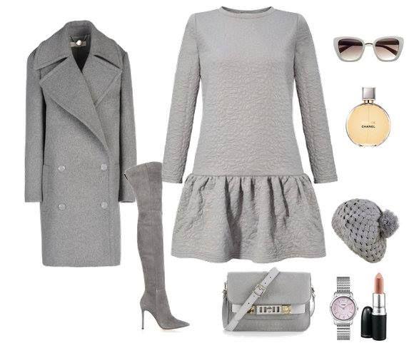 total gray z naszą falbaną http://sugarfree.pl/sukienki/casual/szara_sukienka_z_falbana_ze_zlotym_brokatem.html