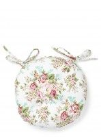 Round Floral Seat Pad, Pink, download this press image at prshots.com #home #picnic #garden