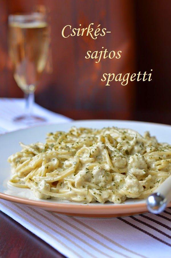 Csirkés-sajtos spagetti
