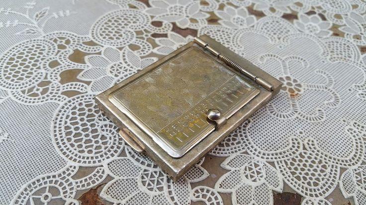 Vintage Pocket Rolodex Address Finder Mid Century Aluminum by GladStoneatHome on Etsy