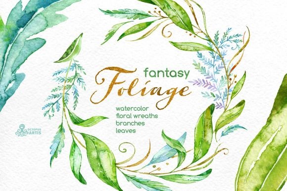 Fantasy Foliage. Floral collection by OctopusArtis on @creativemarket