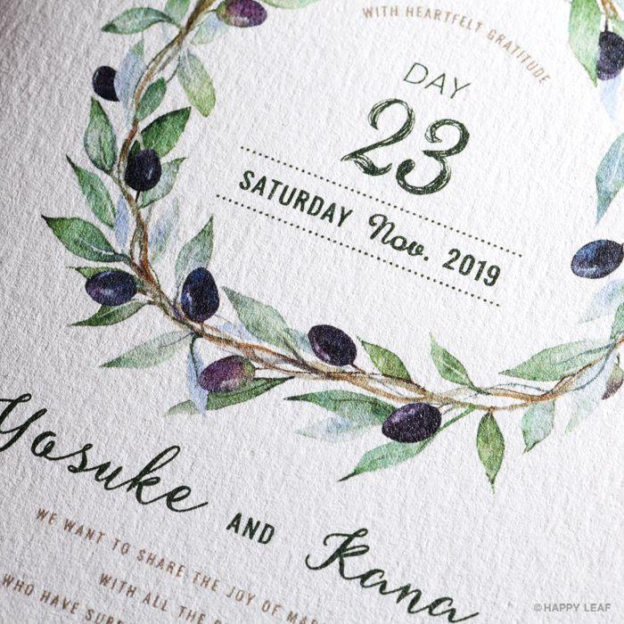 結婚式 招待状 Olive 4