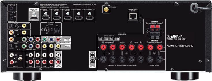 Yamaha MusicCast RX-V681 Vue arrière