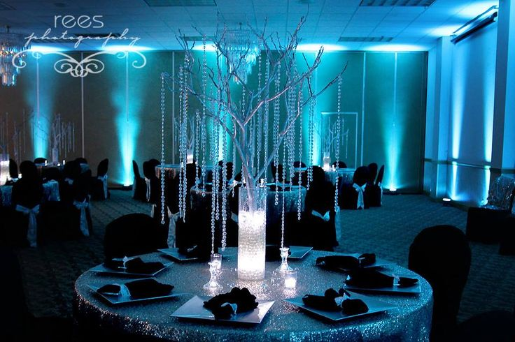TEAL AND GREY UPLIGHTING WEDDING - Google Search